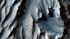 Valles Marineris, Gran Cañón de Marte. / NASA / JPL / Universidad de Arizona.