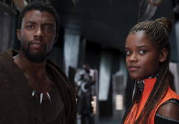 Chadwick Boseman, actor; y Letitia Wright, actriz. Productora.
