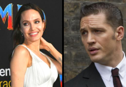 Angelina Jolie, actriz y Tom Hardy, actor. RR SS.