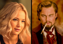 Jennifer Lawrence, actriz; y Leonardo DiCaprio, actor. Productoras.