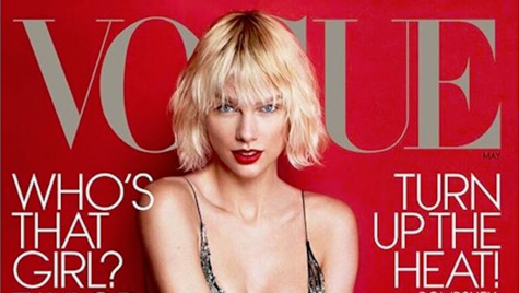 Taylor Swift en la portada de Vogue USA mayo.