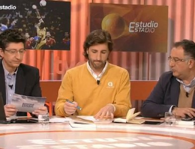Rivero, Ramos y Gómez en 'Estudio Estadio'. / Captura TV