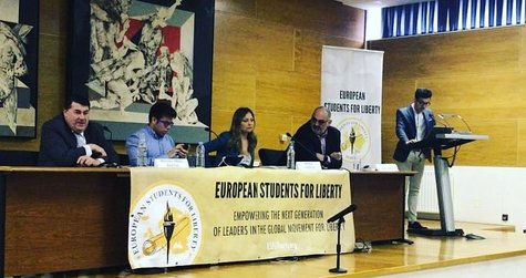 Participantes en el debate de European Students for Liberty. / Mundiario