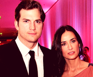 Ashton Kutcher, actor; y Demi Moore; actriz. Pinterest.