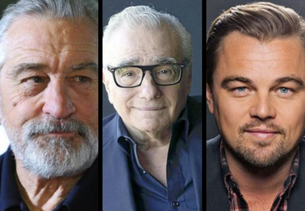 Robert De Niro, actor; Martin Scorsese, director; y Leonardo DiCaprio, actor. RR SS.