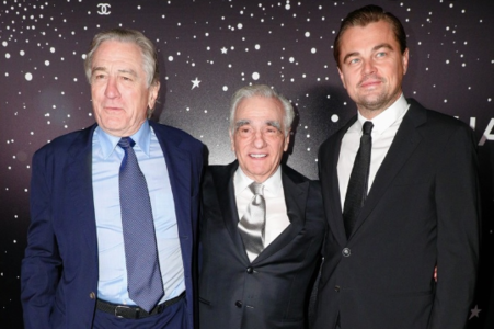 Robert De Niro, actor; Martin Scorsese, director; y Leonardo DiCaprio, actor. / RR SS.