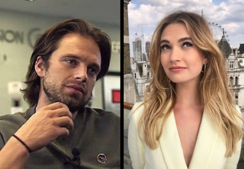Sebastián Stan, actor; y Lily James, actriz. Instagram.