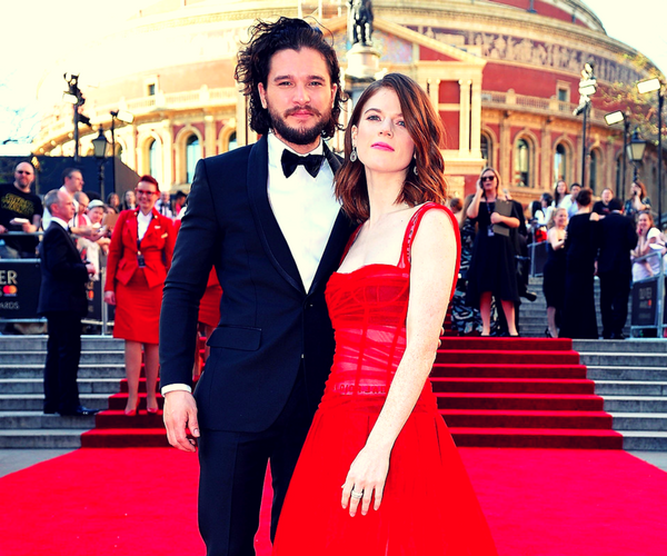 Kit Harington, actor; y Rose Leslie, actriz. / Pinterest.