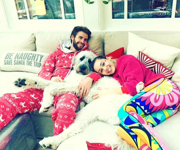 Liam Hemsworth, actor; y Miley Cyrus, cantante. / Instagram.