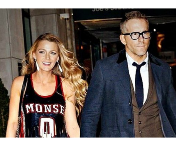 Blake Lively, actirz; y Ryan Reynolds, actor. / Pinterest.