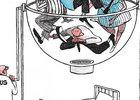 Dibujo de Silvano Mello, Brasil, mención en tema salud
