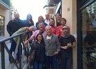 Artistas participantes en la Fiesta de la Caricatura en Alcalá