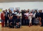 Pariticipantes y organizadores - foto Pilar Navío, XXI Muestra Internacional de las Artes del Humor