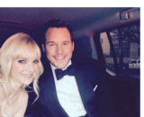 Anna Faris, actriz; y Chris Pratt; actor. Instagram.