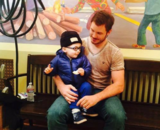 Chris Pratt, actor; junto a su hijo Jack. / Instagram.