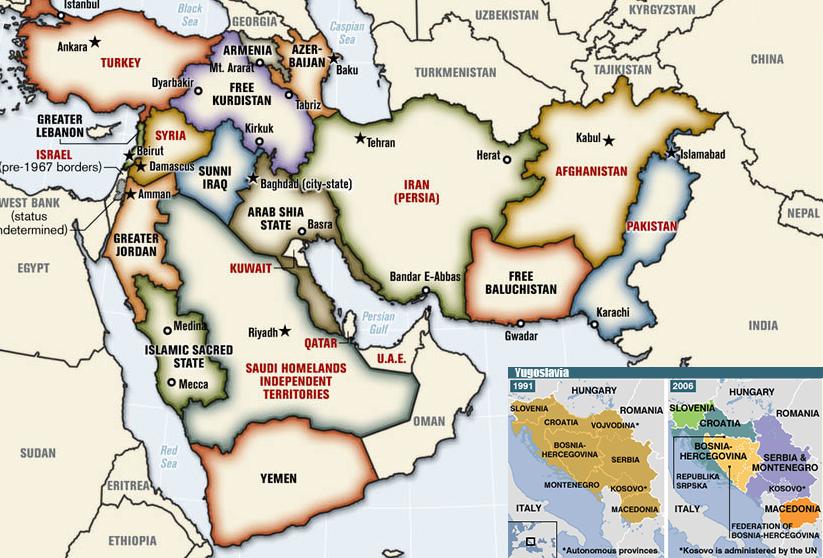 Tctica y estrategia de Occidente para redibujar las fronteras de