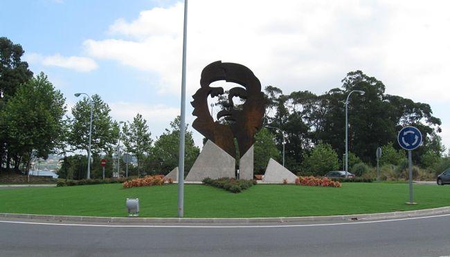 Escultura dedicada a Che Guevara en Oleiros (A Coruña).