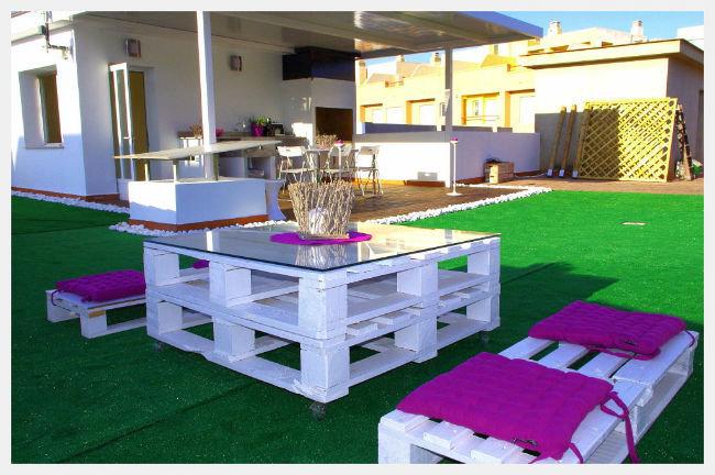 Los palets de madera el lujo de la creatividad al for Mobiliario para el jardin