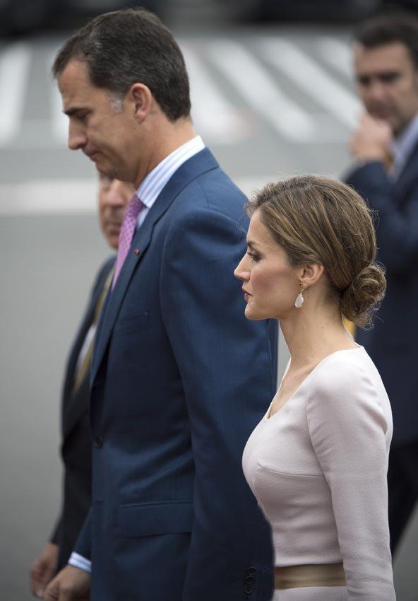 La pareja real.