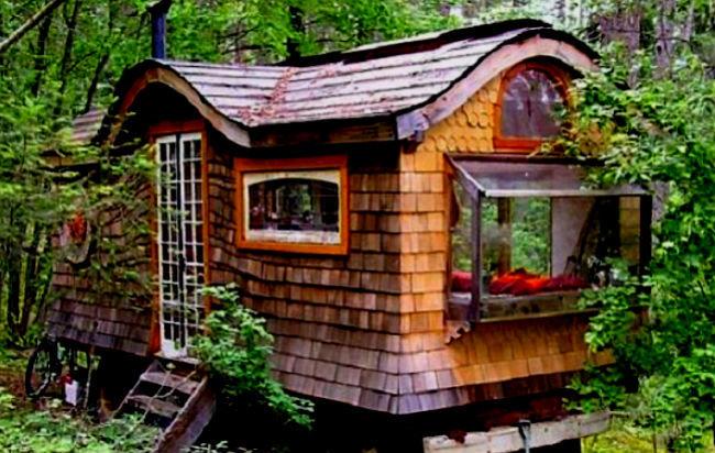 Erase una vez una fant stica casita vag n en un bosque perdido de canad sociedad mundiario - Casitas del bosque ...