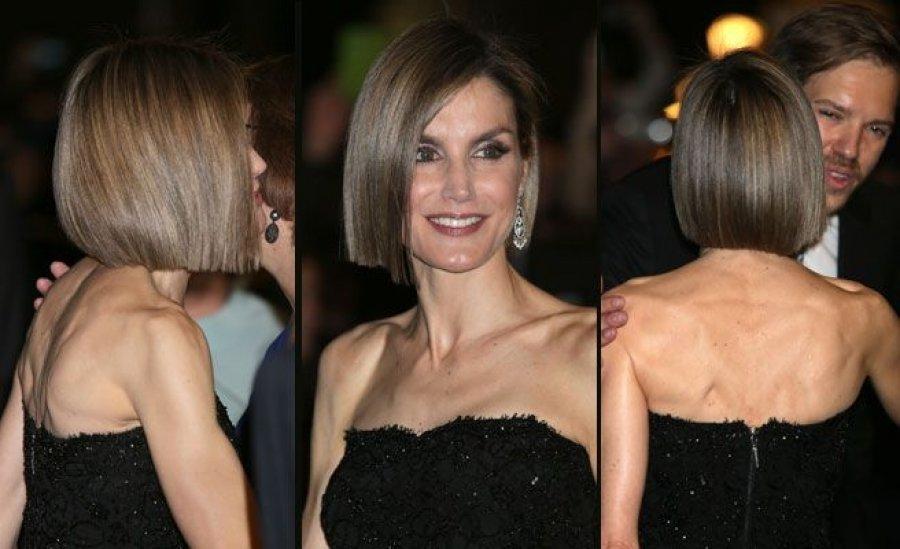 56df1b248 Letizia triunfa con su nuevo peinado pero alarma su gratuita exhibición de  extrema delgadez - A Fondo - Mundiario