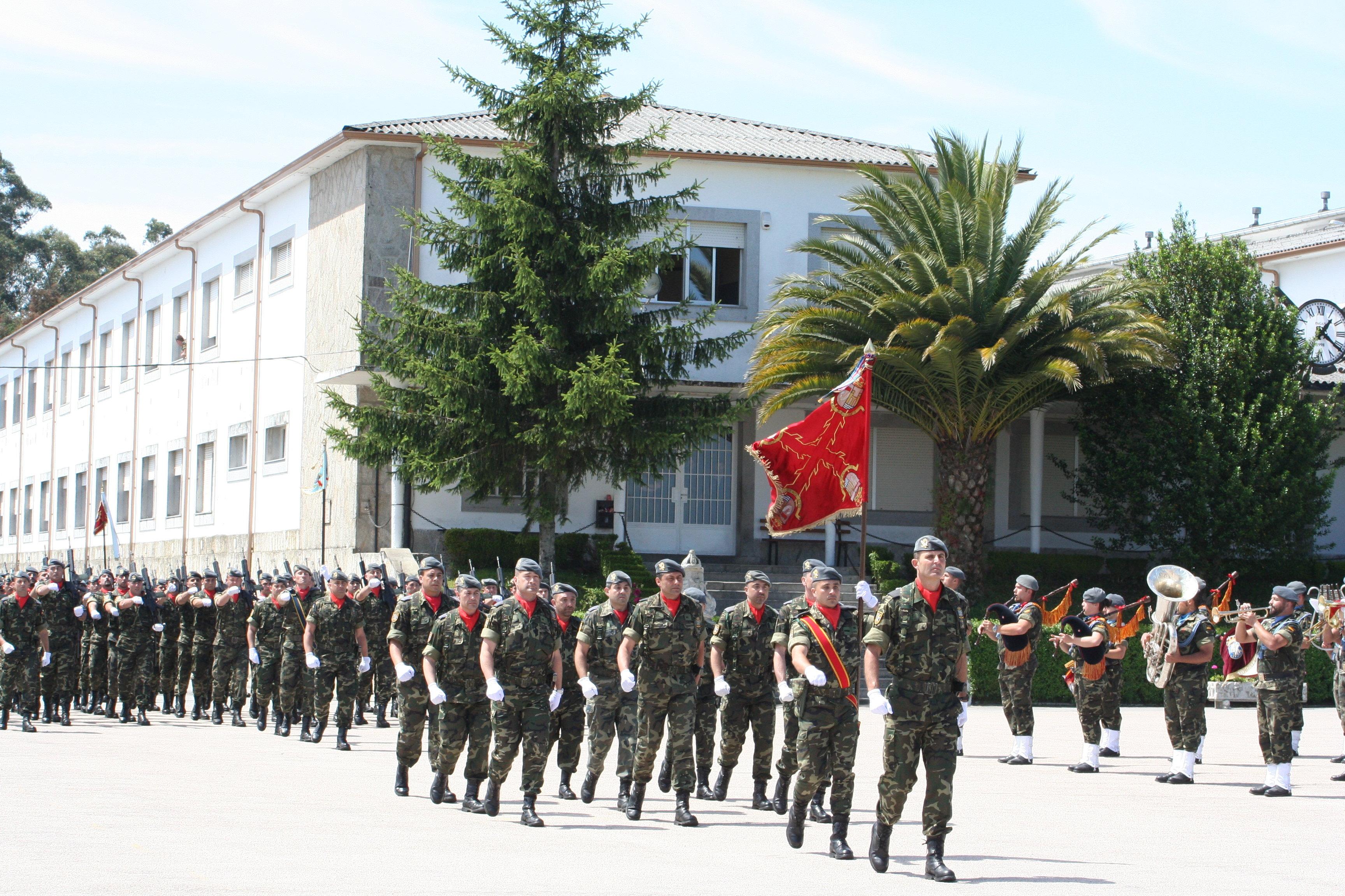 El histórico batallón Zamora, de la Brigada Aerotransportable, una unidad de élite para una hipotética guerra con Marruecos.