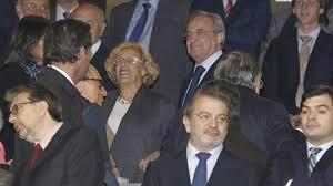 Manuela carmena debut en el palco del bernab u con una - Palco santiago bernabeu ...
