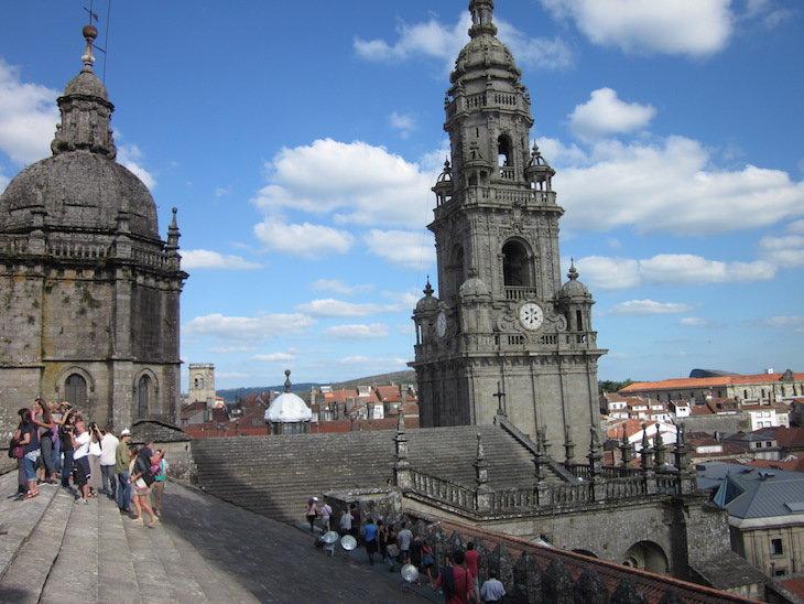 desde los tejados de la catedral de santiago de compostela