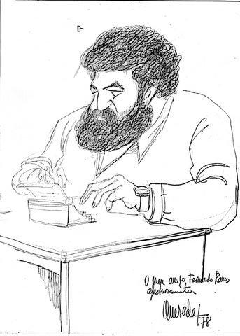 Caricatura de Fernando Ramos fechada en 1978. / Fernando Quesada<br />