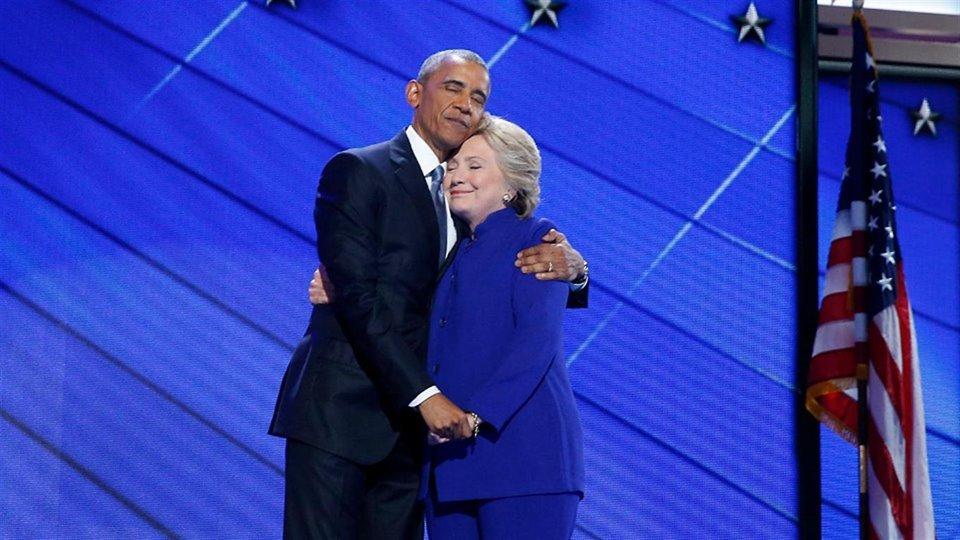 El presidente de los Estados Unidos, Barack Obama, y la candidata demócrata, Hillary Clinton./ A.P.