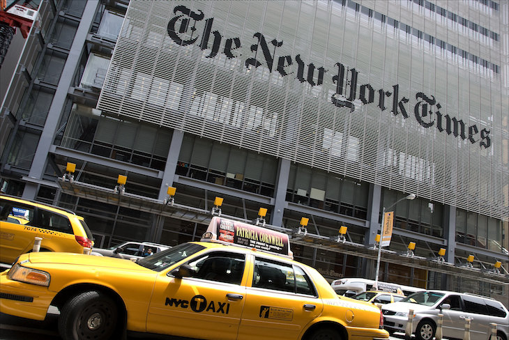 Sede del The New York Times.