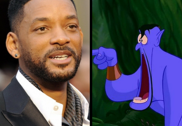 Will Smith, actor, y el Genio de Aladdín. / Forbes y Fotogramas.