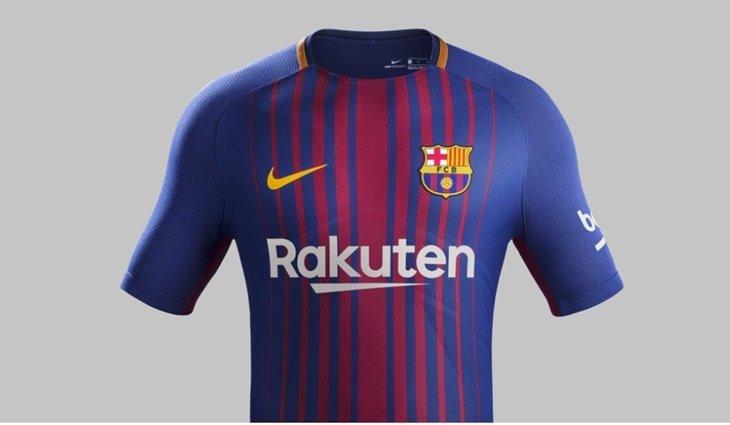 La nueva camiseta del Barcelona para la próxima temporada es muy ... f3f7dfec038