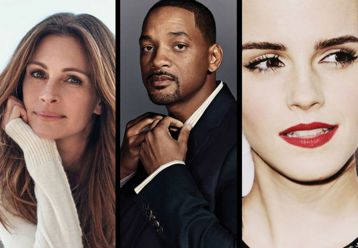 Julia Roberts, actriz, Will Smith, actor y Emma Watson, actriz. / Style, THR y Pinterest.