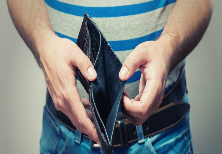 Billetera sin dinero. / thejournal.ie