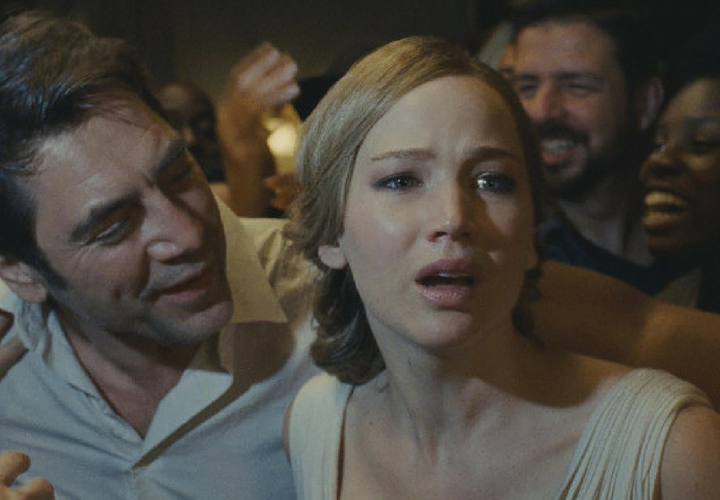 Javier Bardem, actor, y Jennifer Lawrence, actriz. / YouTube.