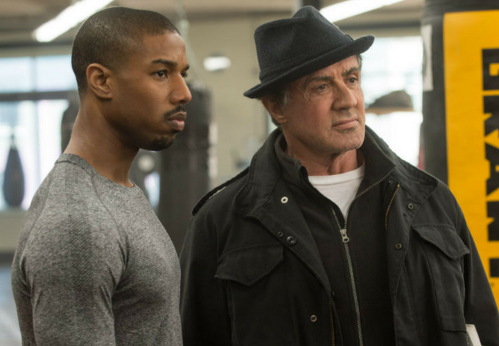 Michael B. Jordan, actor, y Sylvester Stallone, actor. / Warner.