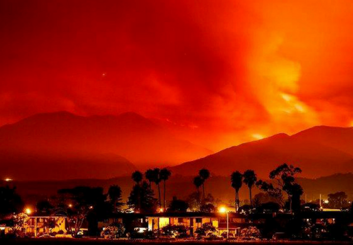 Incendios en California. / Twitter.