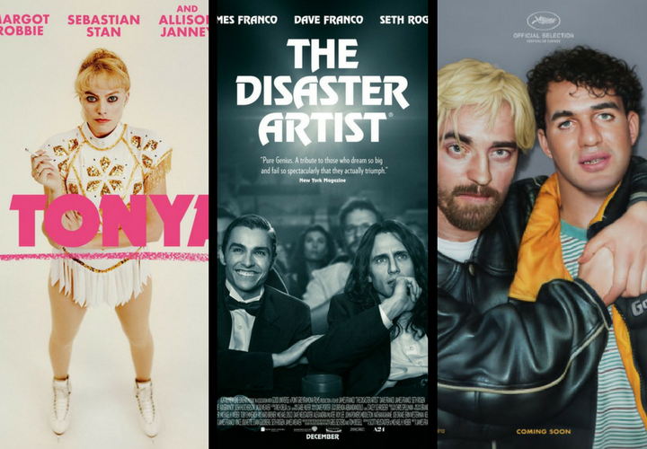 Póster oficiales de I, Tonya; The Disaster Artist y Good Time. / Productoras.