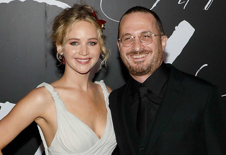 Jennifer Lawrence, actriz y Darren Aronofsky, director de cine. People