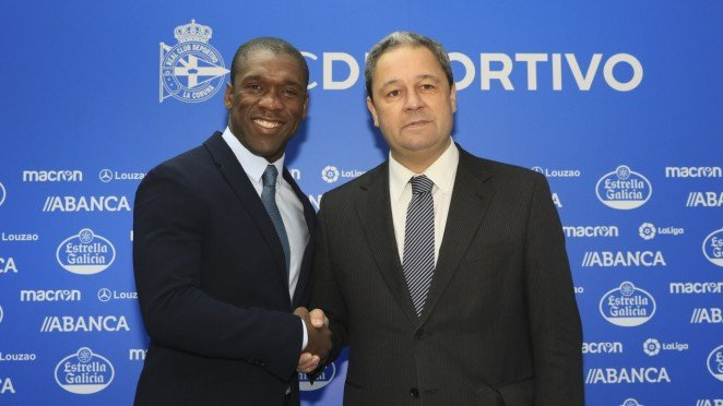 Clarence Seedorf y Tino Fernández. / RCD