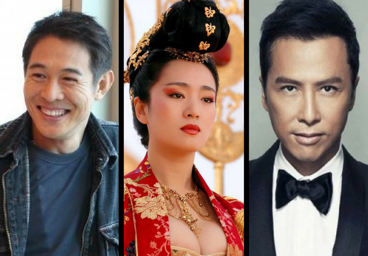 Jet Li, actor; Gong Li, actriz y Donnie Yen, actor. / Twitter y Productora.
