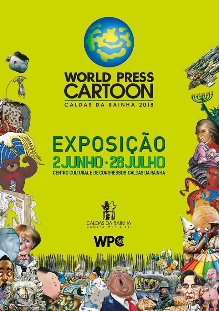 Exposición World Press Cartoon 2018, Caldas da Rainha, Portugal