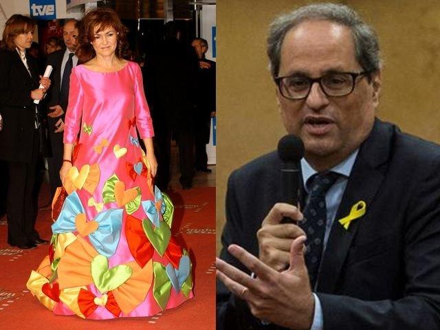 Carmen Calvo quita importancia a las amenazas de Torra