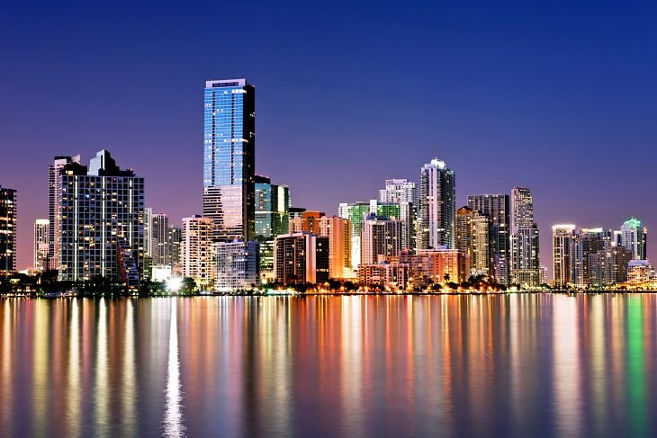 Skyline de Miami, en Florida (EE UU). / Happywall