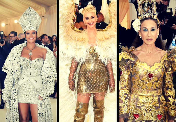 Rihanna, cantante; Katy Perry, cantante; y Sarah Jessica Parker, actriz. / RR SS.