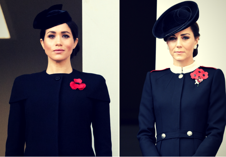 Meghan Markle, duquesa de Sussex; y Kate Middleton, duquesa de Cambridge. / RR SS.