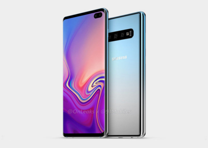 Samsung Galaxy S10 Plus. / @OnLeaks