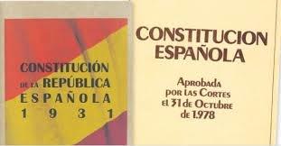 Constituciones españolas del 31 y del 78.