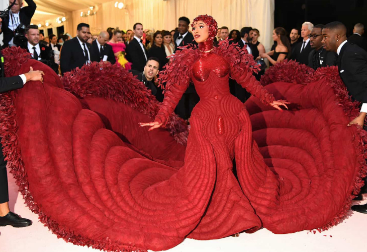 c9e810586 Lo mejor del vestido de Cardi B en la Gala del Met es que después ...